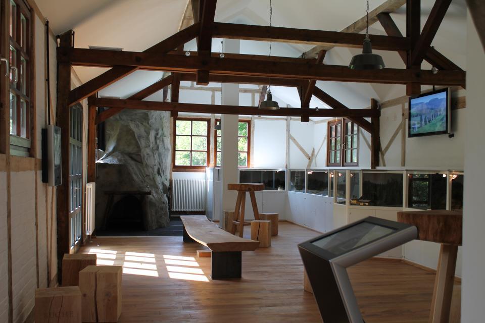 Informationszentrum im ehemaligen Bahnhof Blechschmidtenhammer
