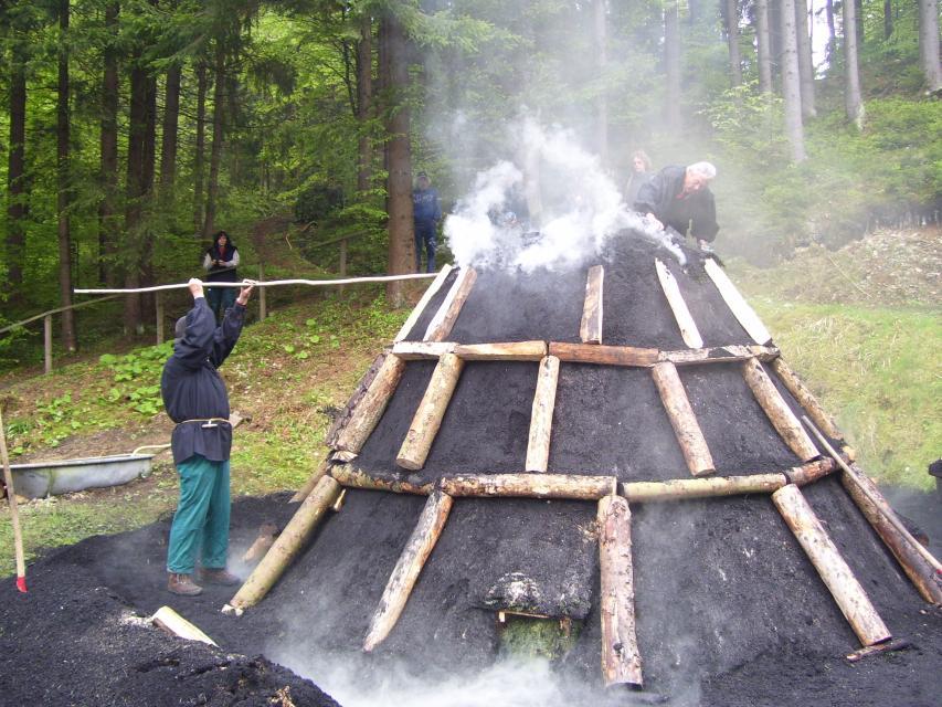 Kohlenmeiler im Thiemitztal