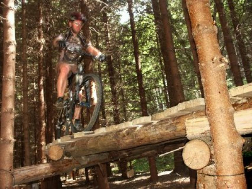 Mountainbike Übungsparcours am Döbraberg
