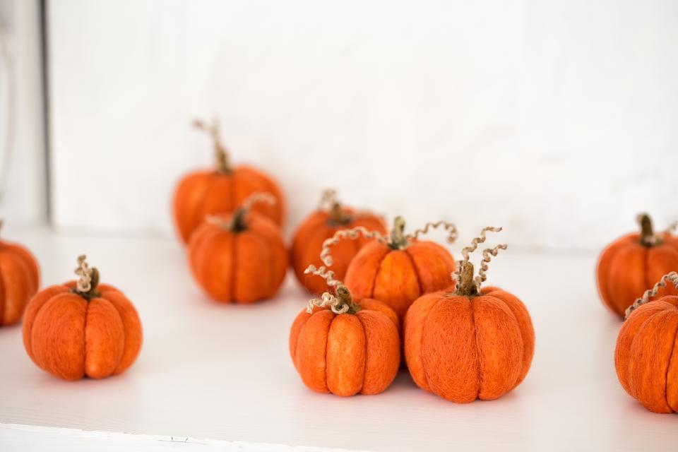 Kinderevent: Wir filzen einen Halloween Kürbis