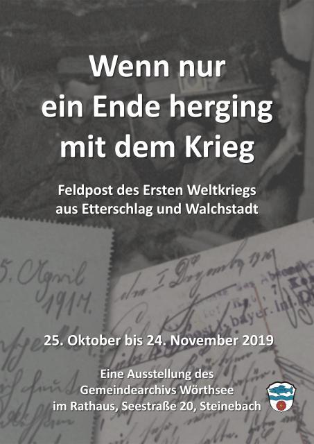 Eröffnung - Eine Ausstellung von Feldpost aus dem 1. Weltkrieg