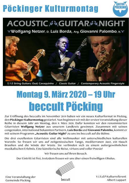 Pöckinger Kulturmontag - Gitarrist Wolfgang Netzer