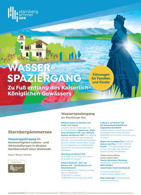 Wasserspaziergang Kinderführung Starnberg auf kleinem Fuß