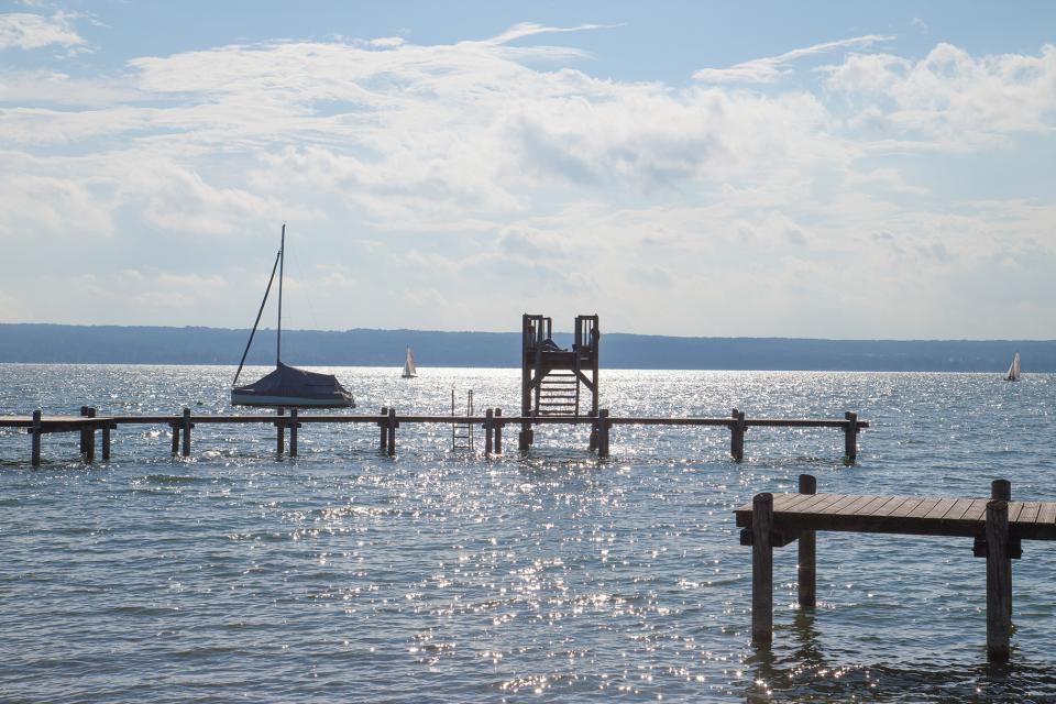 Badegelände Herrschinger Bucht