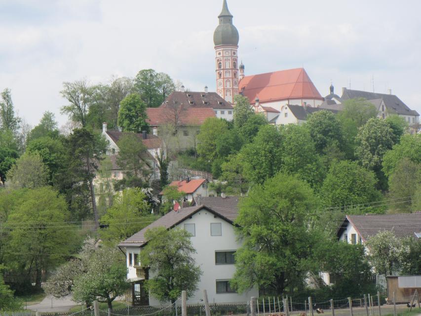 Ziel erreicht - Parkplatz Kloster Andechs