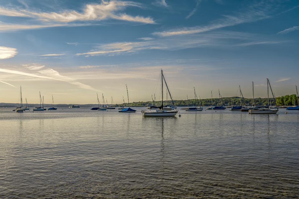 Segelboote am Ammersee