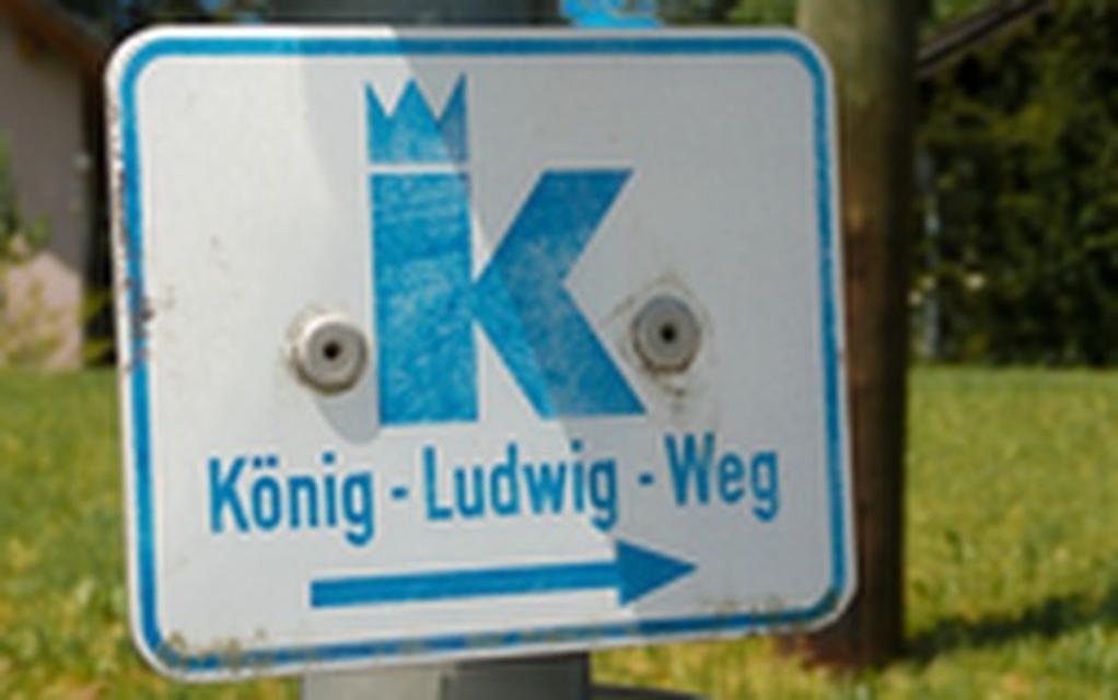 Beschilderung König-Ludwig-Weg