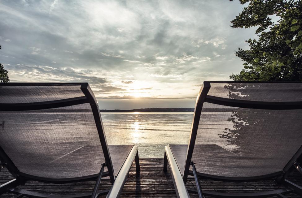 Ein hauseigenes Seegrundstück bietet direkten Zugang zum Starnberger See