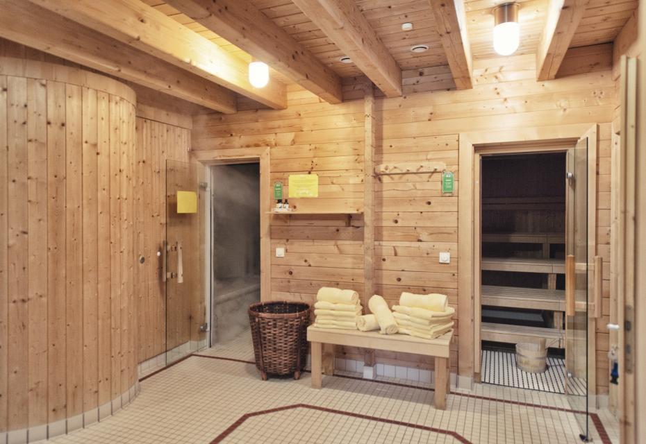 Der Saunabereich im Schlossgut Oberambach: klein aber fein