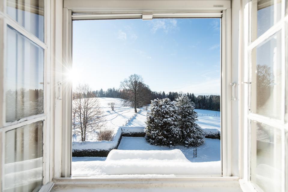 Besonders im Winter ist das Schlossgut Oberambach der passende Ort, um zur Ruhe zu kommen