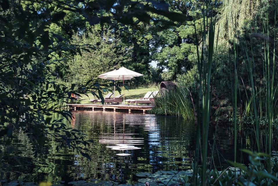 Feng-Shui: Am Naturbadeteich lässt es sich wunderbar ausruhen