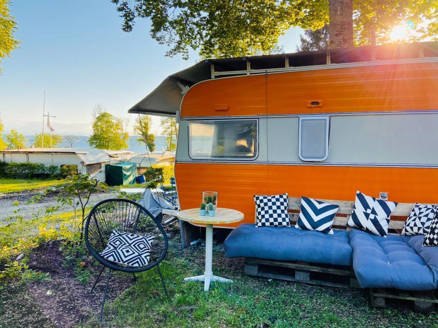 Stellplatz am Campingplatz Ambach