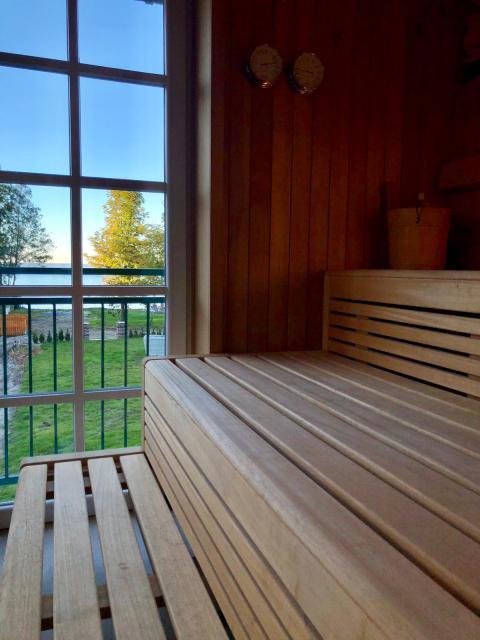 Sauna mit Blick auf den Starnberger See