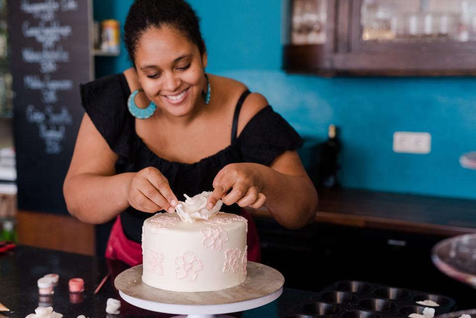 Zubereitung einer leckeren Torte